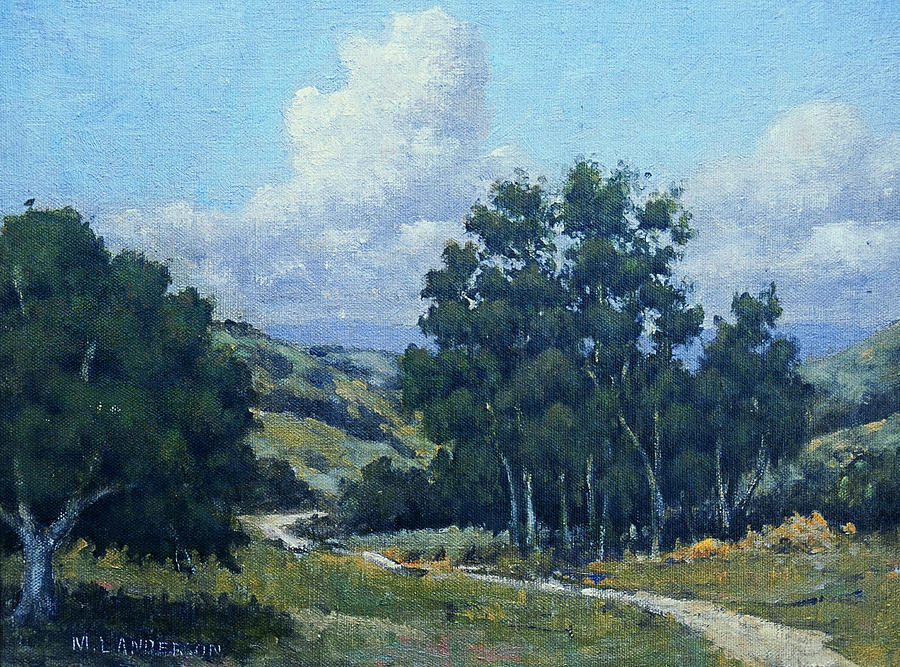 California Landscape Painting - Old Farm Road by Marv Anderson