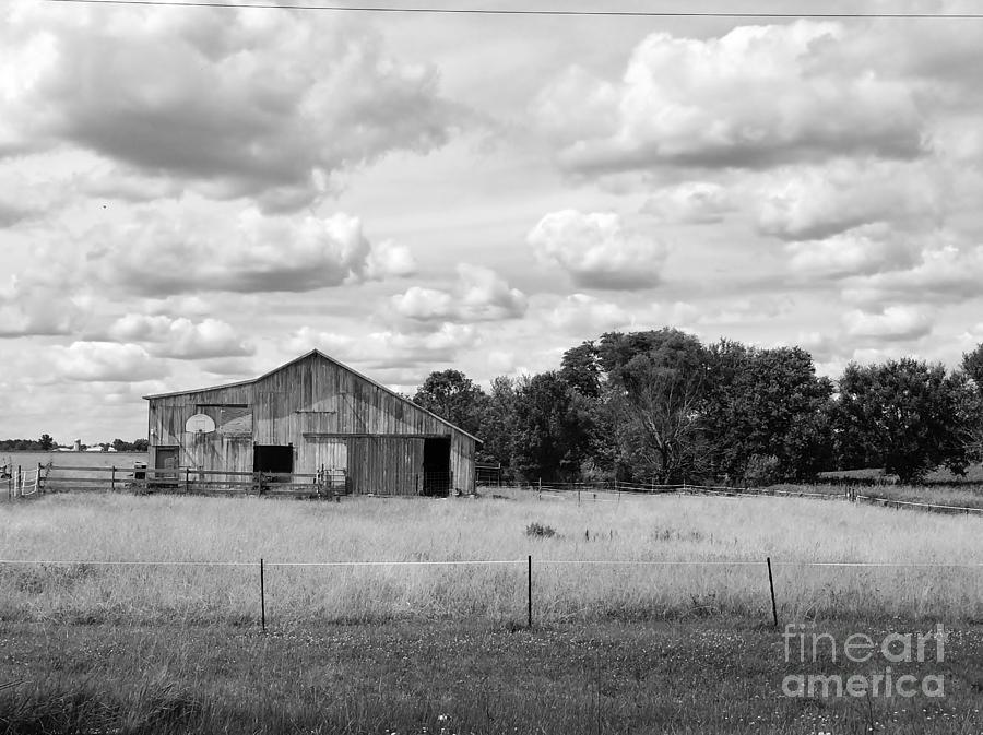 Black Photograph - Old Farm Scene by Ranchers Eye Photography