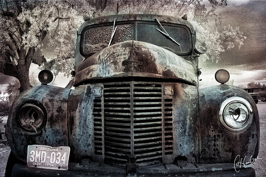 Truck Photograph - Old Farm Truck II by Christine Hauber