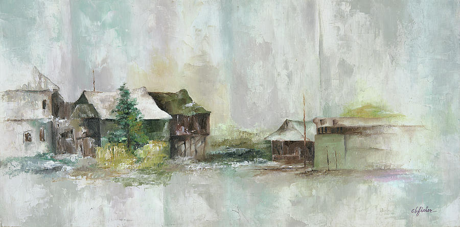 Old Farm Yard Painting by Constance Fisher