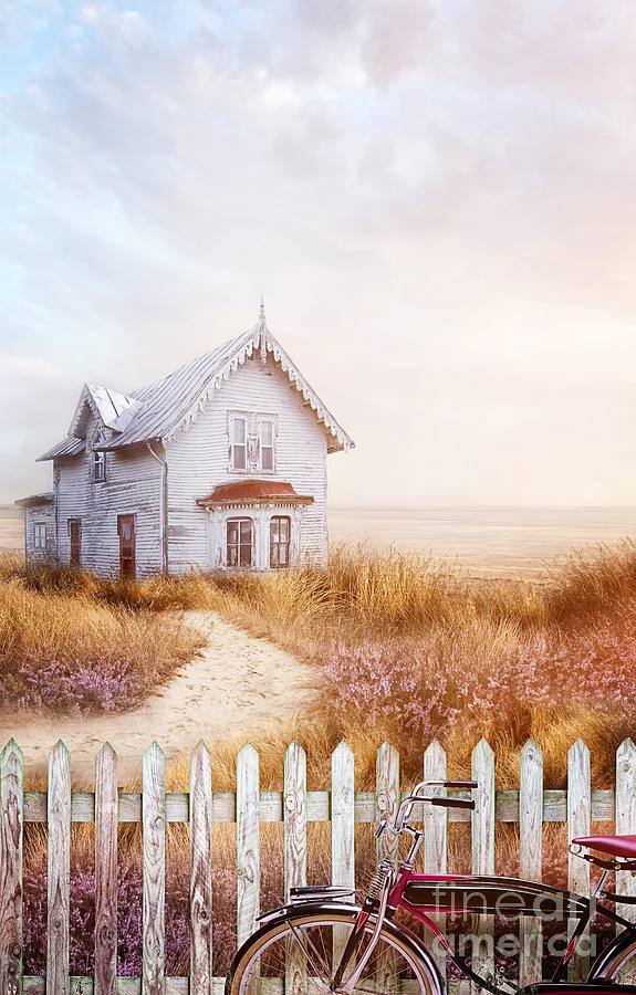 Atmosphere Photograph - Old Farmhouse Near The Ocean by Sandra Cunningham