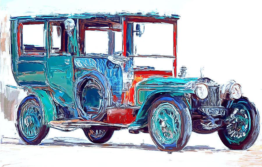 Old Fashion Car Digital Art by Yury Malkov