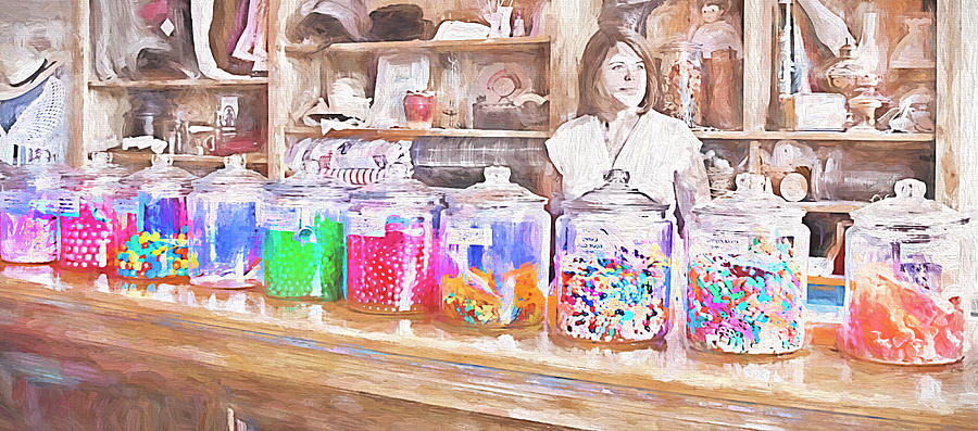 photograph candy shopkeeper by steve ohlsen