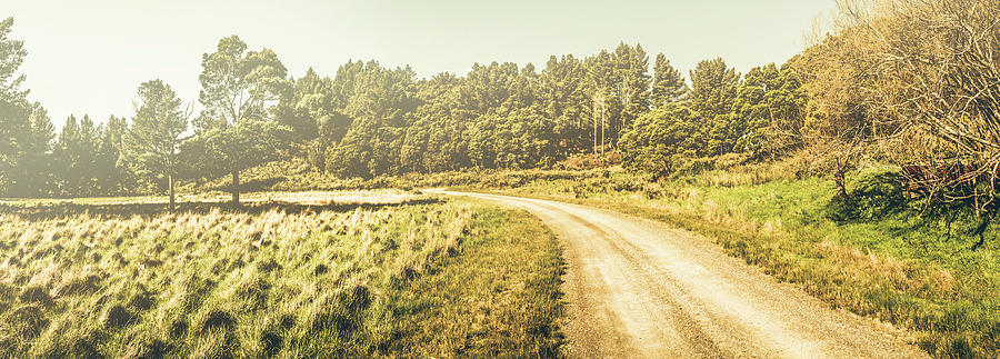 Memory Photograph - Old-fashioned country lane by Jorgo Photography - Wall Art Gallery