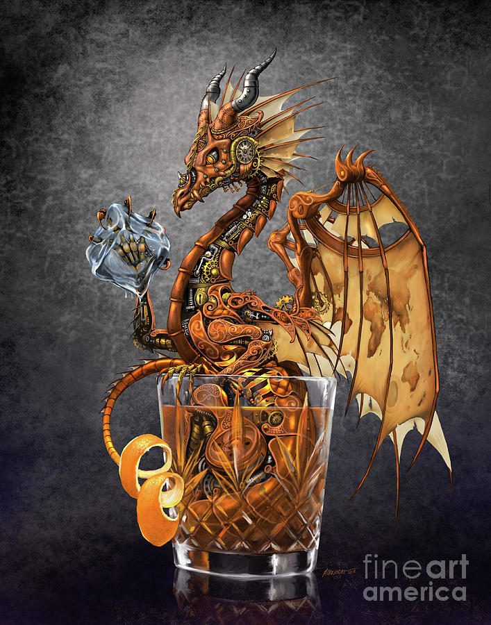 Old Fashioned Digital Art - Old Fashioned Dragon by Stanley Morrison