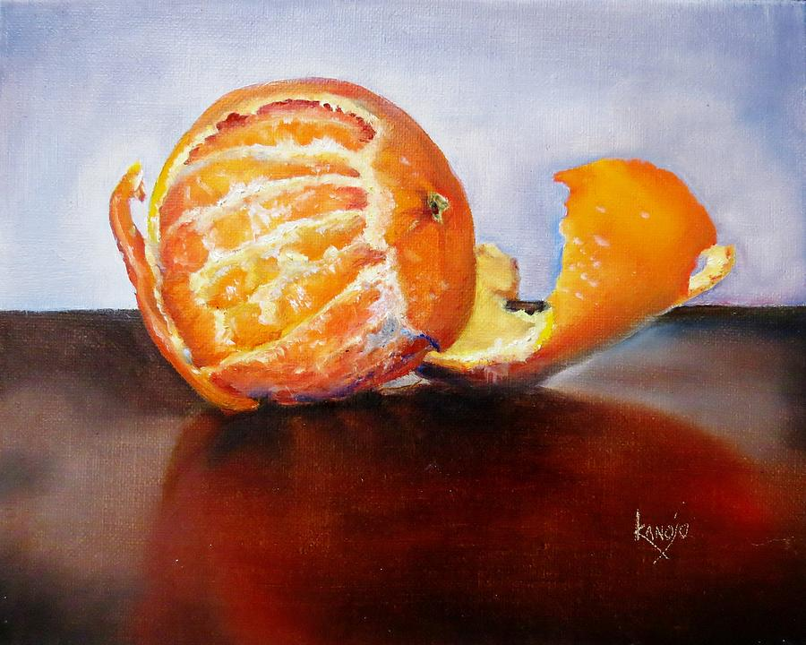 Contemporary Still Life Painting - Old Fashioned Orange by Wendy Winbeckler - Kanojo