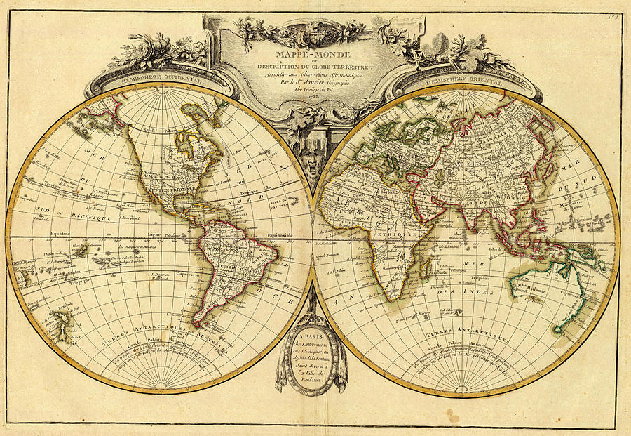 Old fashioned world map 1782 drawing by cartographyassociates world map drawing old fashioned world map 1782 by cartographyassociates gumiabroncs Choice Image
