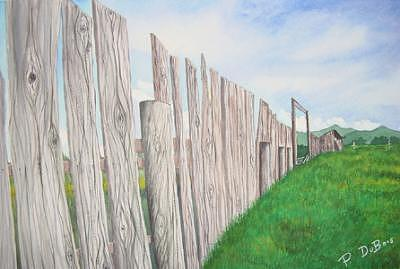 Old Fence Painting - Old Fence At The Tetons by Pamela DuBois
