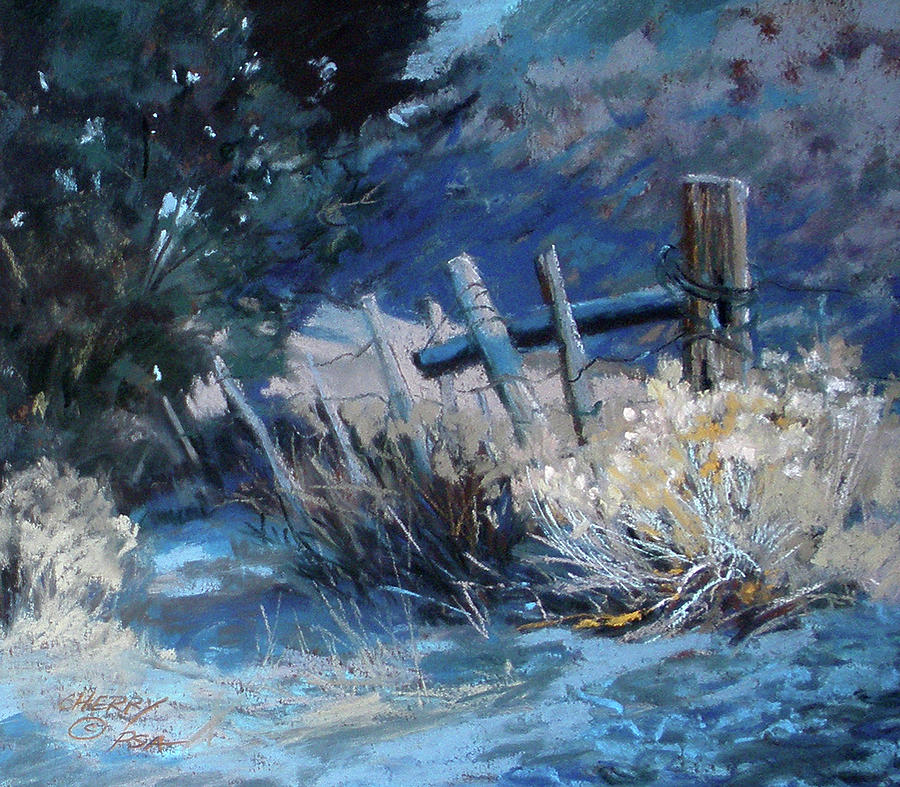 Old Fence Painting - Old Fence by Mary Ann Cherry