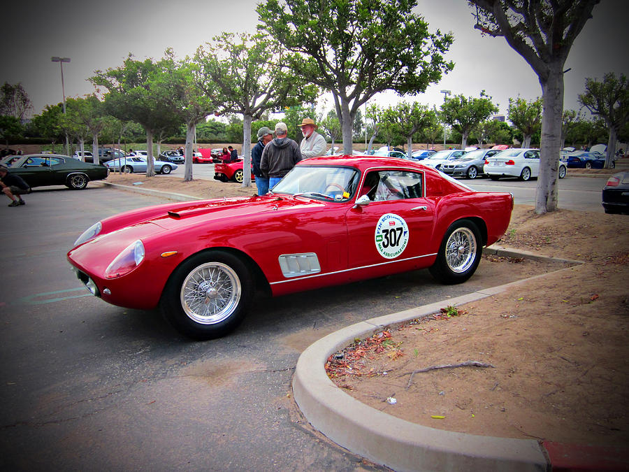 Old Photograph - old Ferrari by Michael Burleigh