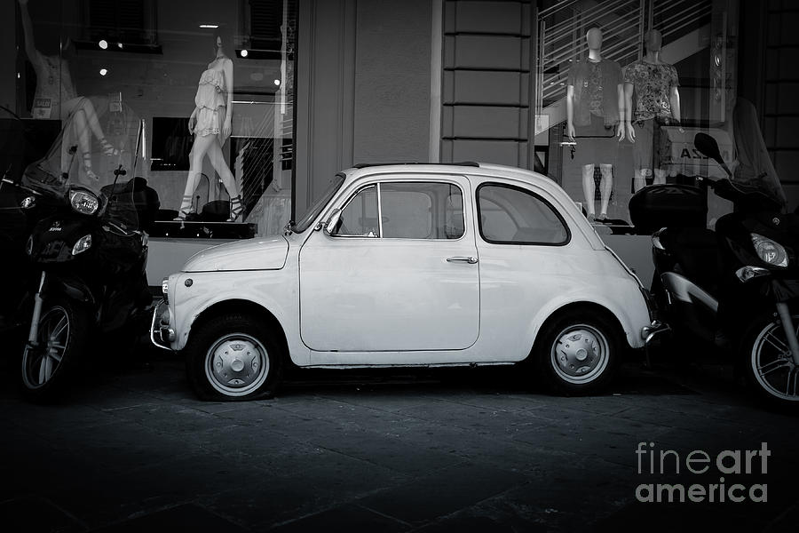 Car Photograph - Old Fiat On The Streets Of Florence by Edward Fielding