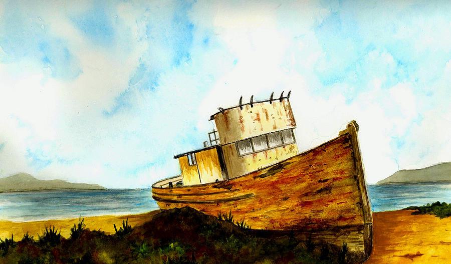 Αποτέλεσμα εικόνας για old boat paintings