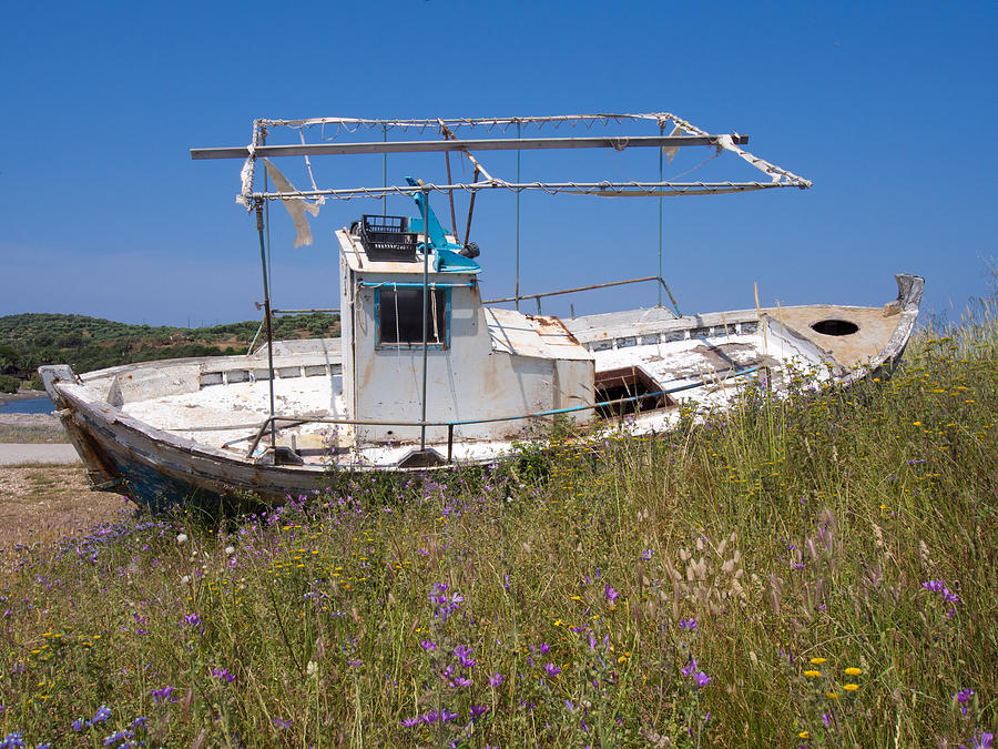 Abandoned Photograph - Old Fishing Boat by Roy Pedersen