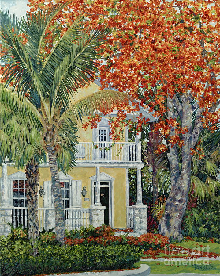 Tamarind Tree Painting - Old Flame by Danielle  Perry