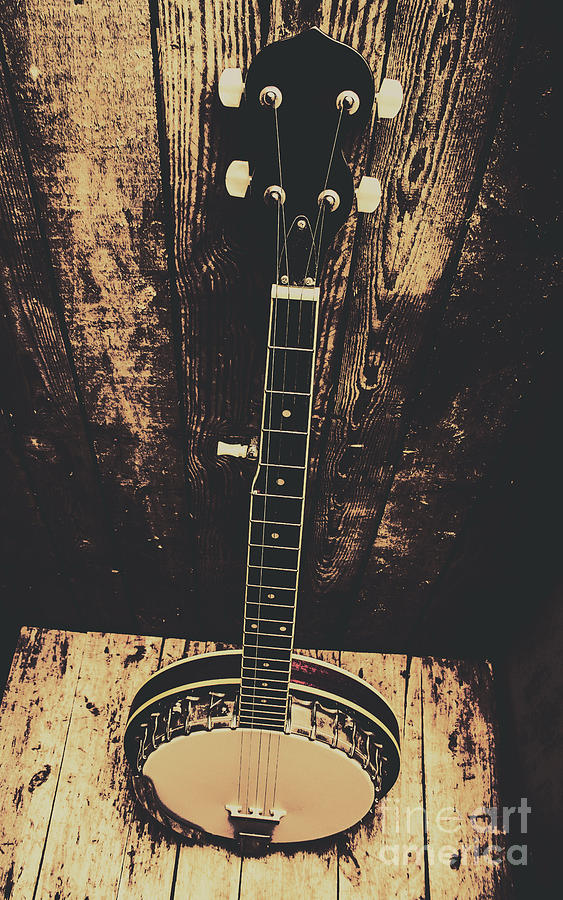 Instrument Photograph - Old Folk Music Banjo by Jorgo Photography - Wall Art Gallery
