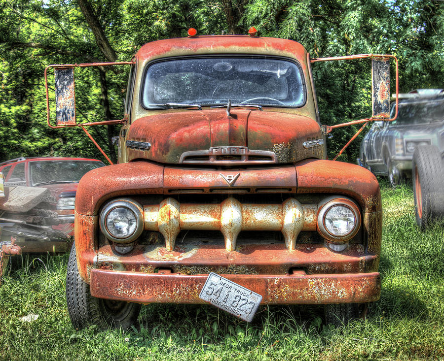Old Ford Farm Truck Photograph By J Laughlin