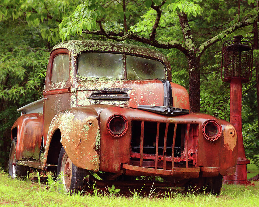 Old Photograph - Old Ford by Jeannee Gannuch