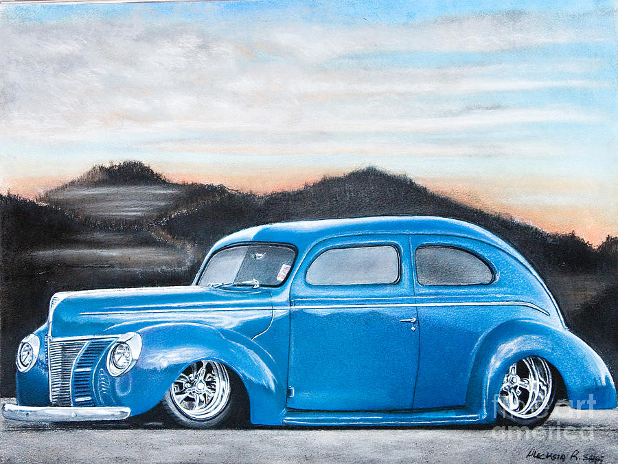 Pastel Painting - Old Ford by Raymond Potts