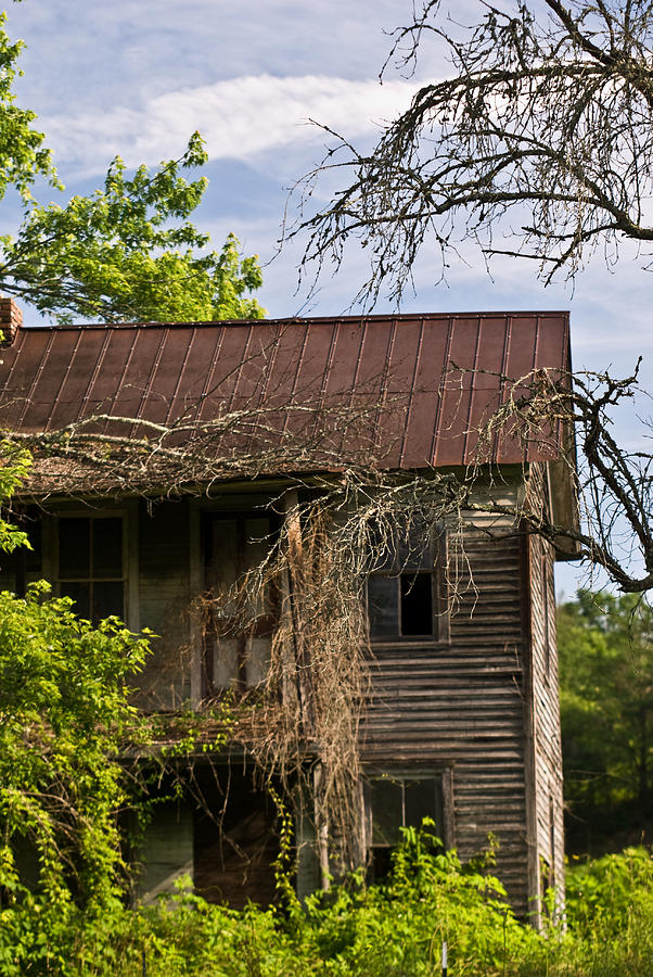 Old Photograph - Old Forgotten Farm House by Douglas Barnett