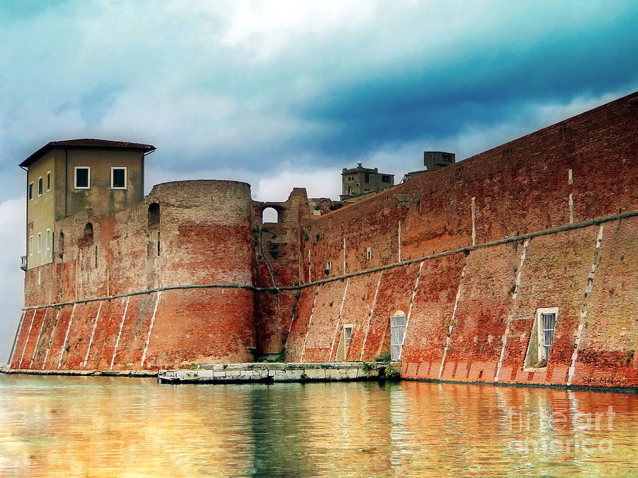 Fortress Photograph - Old Fortress In Livorno by Sue Melvin