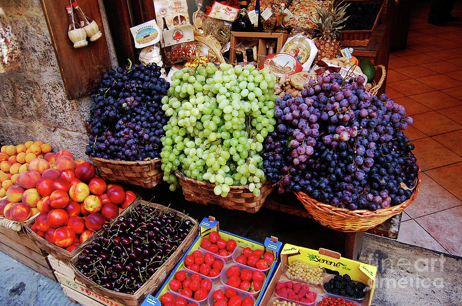 Grapes Photograph - Old Fruit Store by Frank Stallone