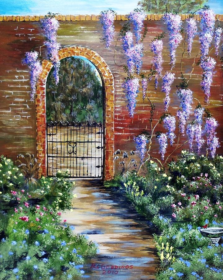 Arch Painting - Old Garden Gateway by Riley Geddings
