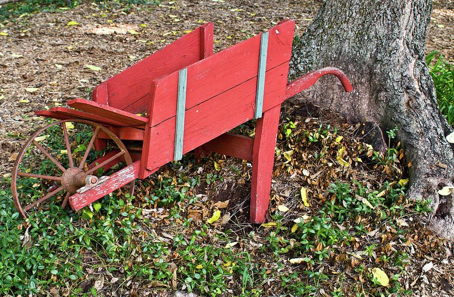 Old Photograph - Old Garden Wheel Barrow by Douglas Barnett