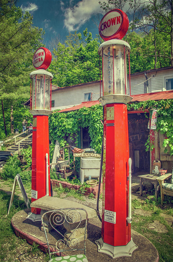 Old Gas Pumps In Rabbit Hash, Kentucky by Ina Kratzsch