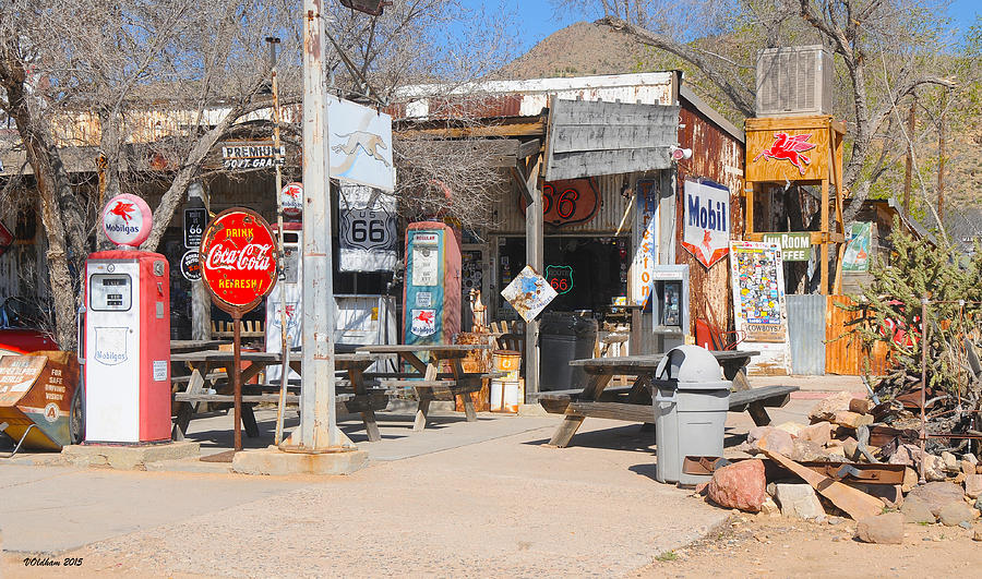 Old Gas Station, Historic Route 66 by Victoria Oldham