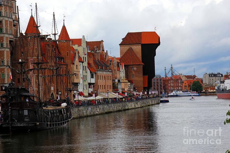 Port Photograph - Old Gdansk Port Poland by Sophie Vigneault