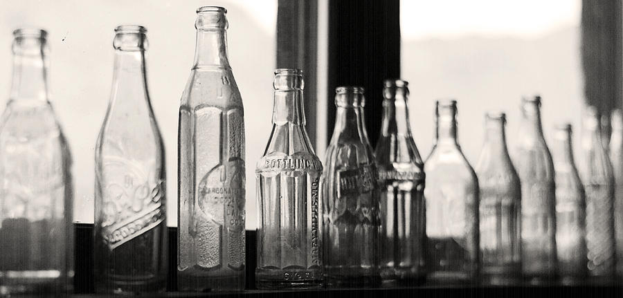 Bottles Photograph - Old Glass Bottles by Emily Smith