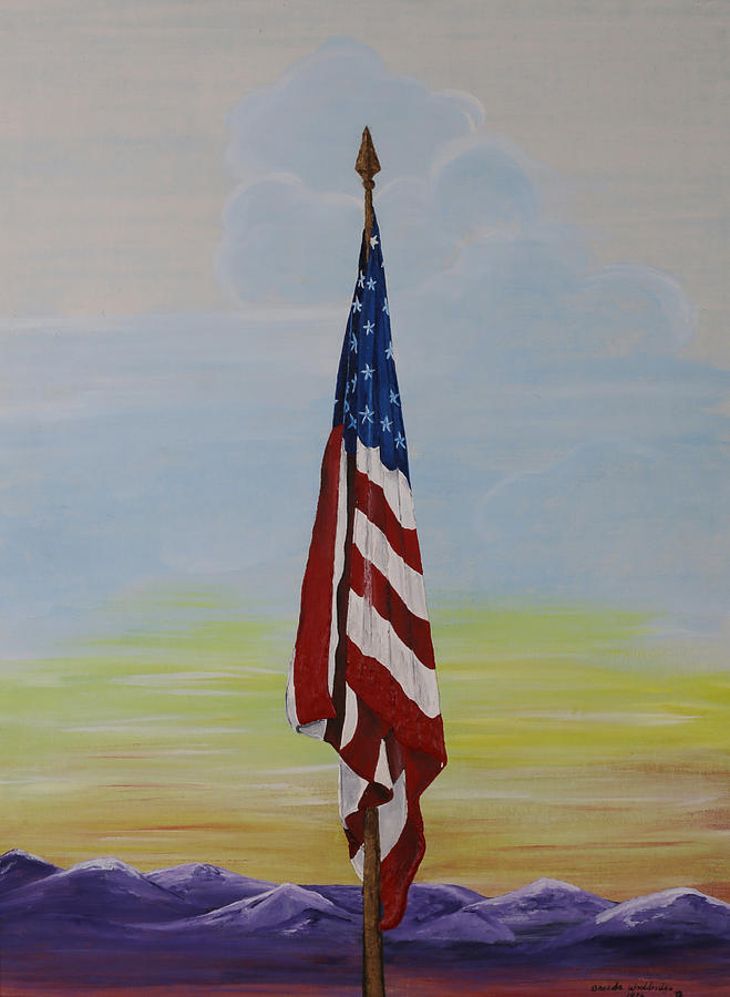 Old Glory Painting By Brenda Wooldridge