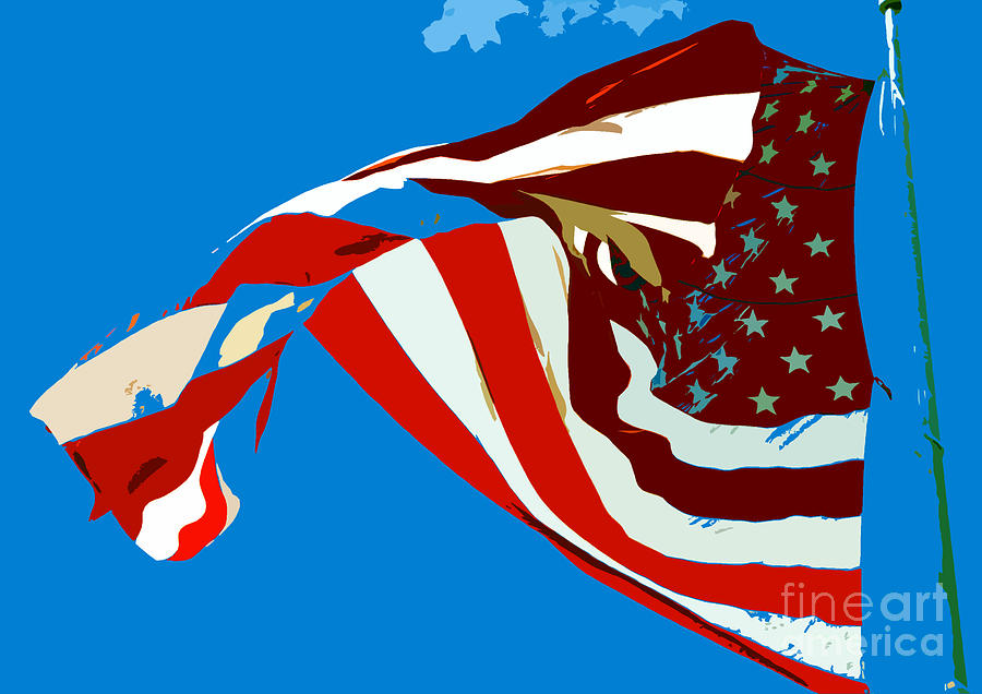 Old Glory Painting - Old Glory Flying by David Lee Thompson