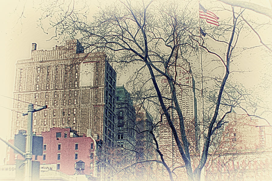 Old Glory Photograph - Old Glory In Old Style And Empire by Alex AG