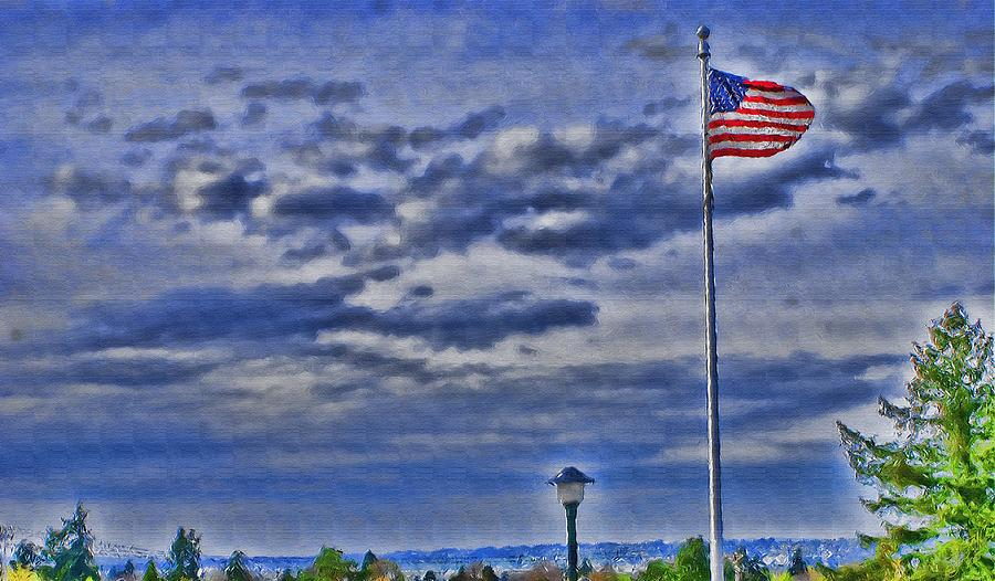 Secure Photograph - Old Glory by John Winner