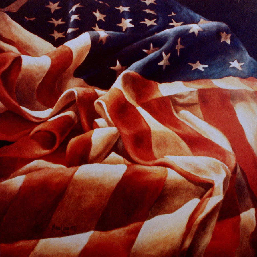 Old Glory Painting - Old Glory by Michael Lang