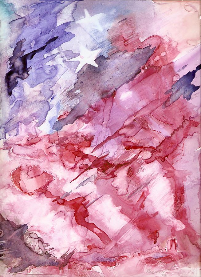 Flag Painting - Old Glory by Roger Parnow