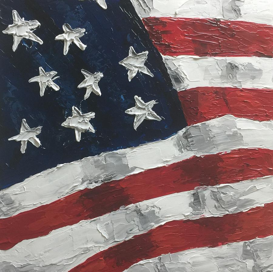 American Flag Painting - Old Glory by Sharon West Fine Art