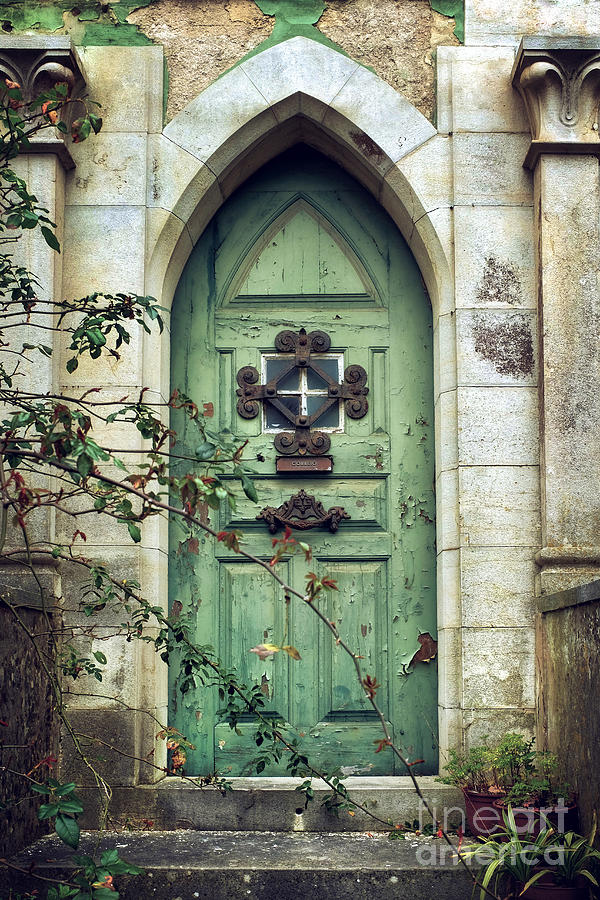 Old Photograph - Old Gothic Door by Carlos Caetano