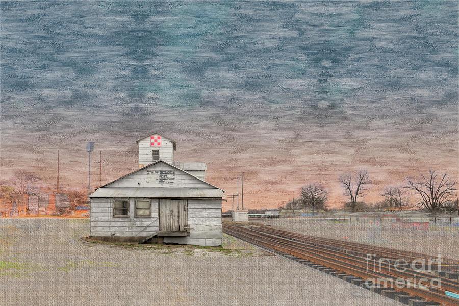 Horizontal Digital Art - Old Grain Elevator  by Larry Braun