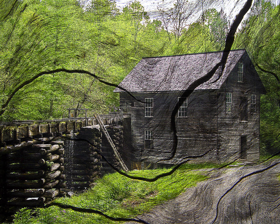 Old Grain Mill Photograph by Michael Whitaker