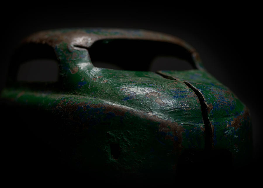 Old Toy Photograph - Old Green Coupe Toy Car by Art Whitton