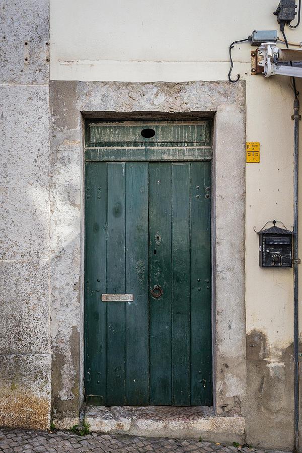 Antique Door Photograph - Old Green Door by Marco Oliveira