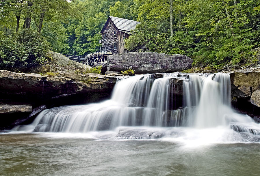 Glade Creek Photograph - Old Grist Mill In Babcock State Park West Virginia by Brendan Reals