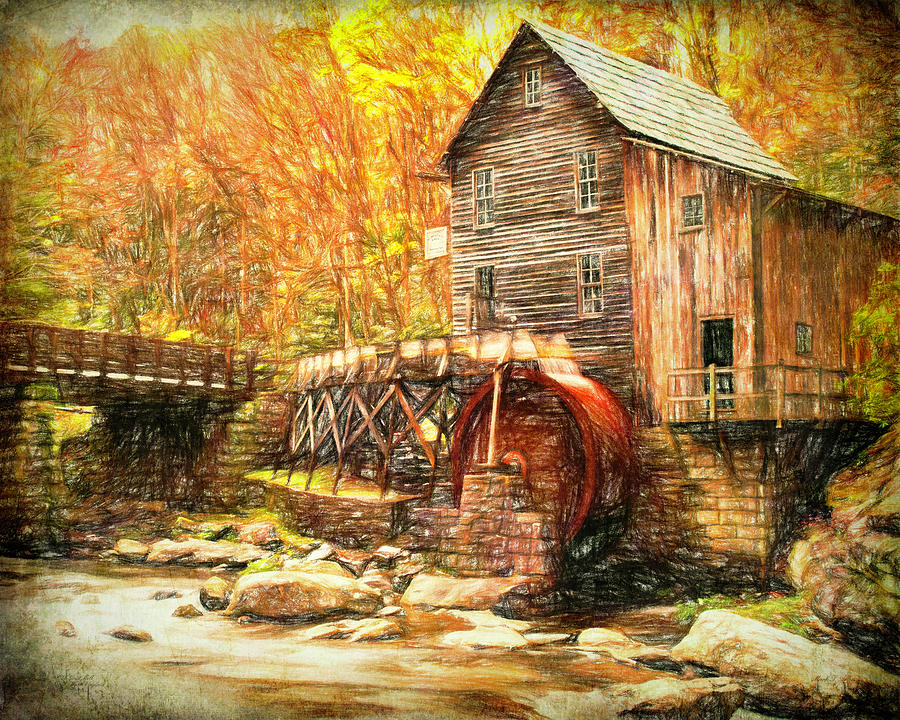 Old Grist Mill by Mark Allen