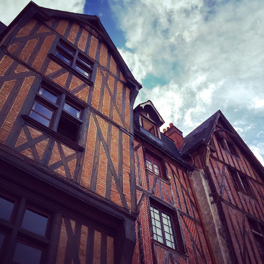 Tours Photograph - Old half-timbered houses in Tours, France by GoodMood Art