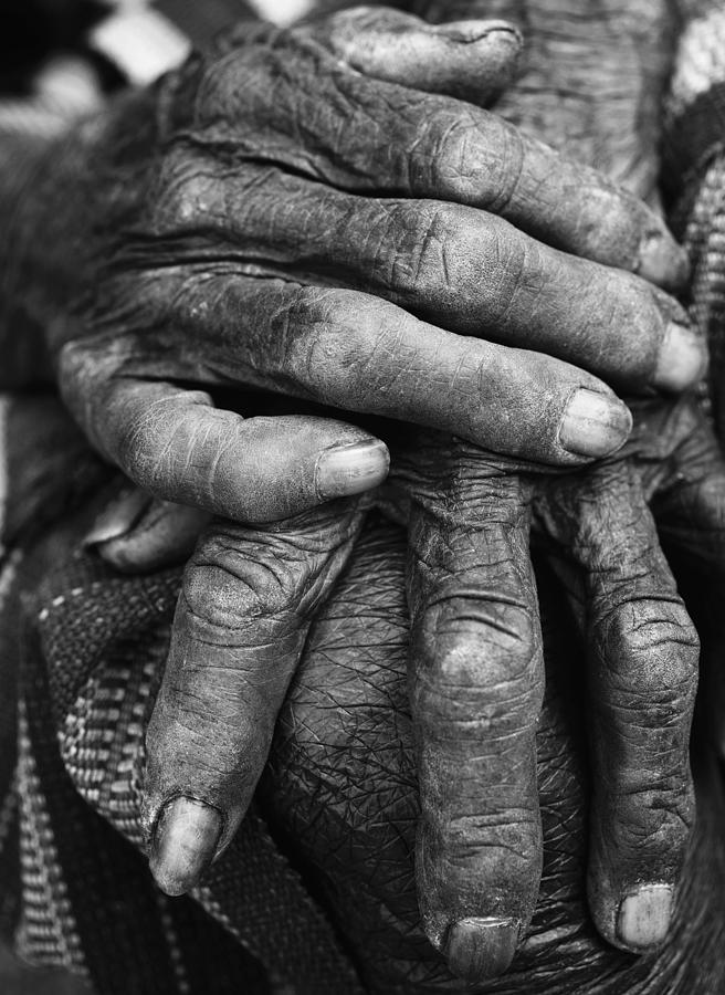 Asia Photograph - Old Hands 3 by Skip Nall
