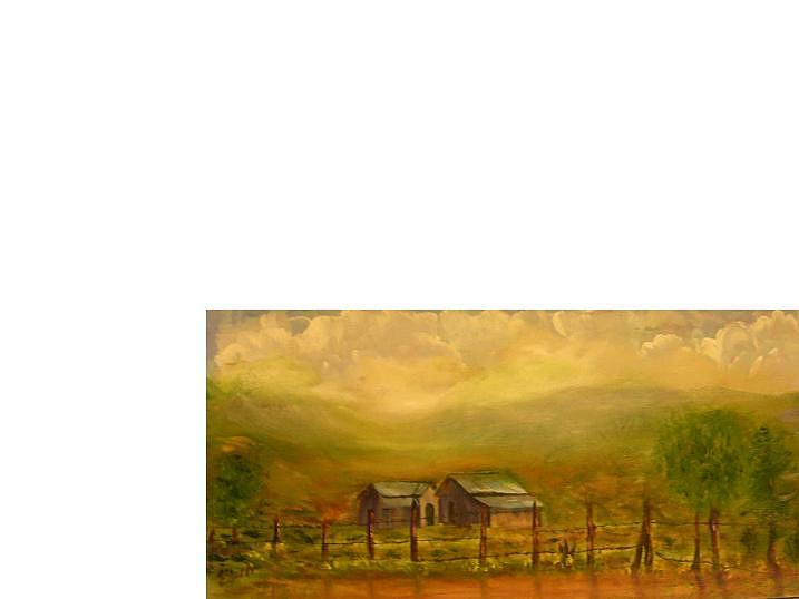 Old Painting - Old Homestead by Eileen Anderson