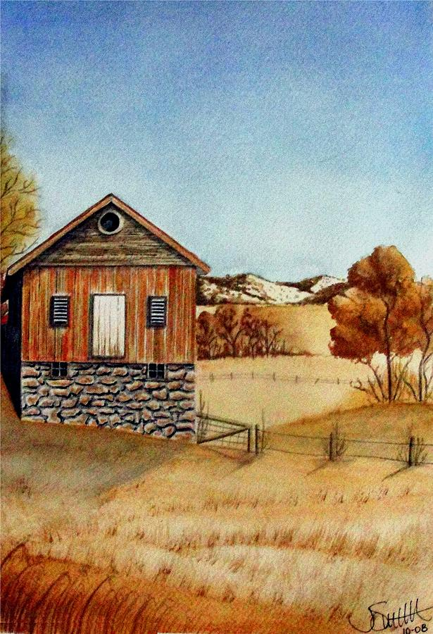 Building Painting - Old Homestead by Jimmy Smith