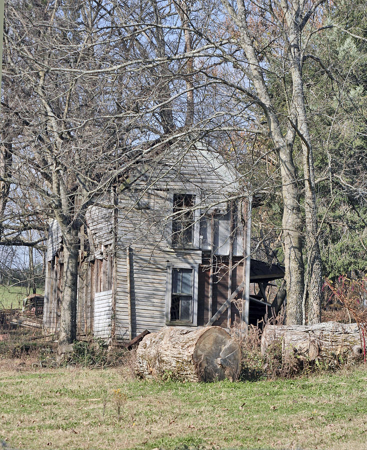 Old Photograph - Old Homestead by Linda A Waterhouse